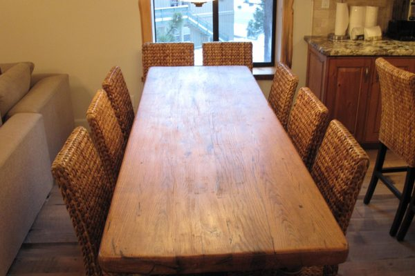 Seating for 10 at this 19th Century French Butcher Block